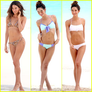 Lily Aldridge Shows Off Svelte Bikini Body for Beach Pho