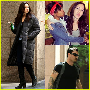 Megan Fox Hangs with Fans on 'Ninja Turtles' Set!