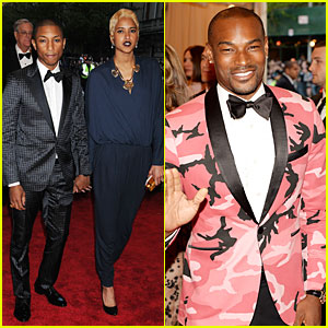 Pharrell & Tyson Beckford - Met Ball 2013 Red Carpet