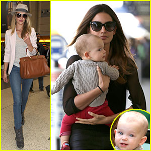Rosie Huntington-Whiteley & Lily Aldridge: LAX Departing Beauties!