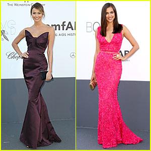 Stacy Keibler & Irina Shayk: amfAR Cannes Gala!
