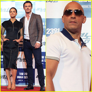 Vin Diesel & Michelle Rodriguez: 'Fast & Furious 6' Seoul Press Conference!