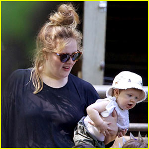 Adele Debuts Baby Angelo at New York City's Central Park Zoo!