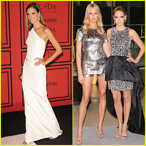 Alessandra Ambrosio & Karolina Kurkova - CFDA Fashion Awards 2013 Red Carpet