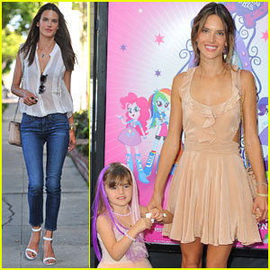 Alessandra Ambrosio: 'My Little Pony' Premiere After Anja's Graduation
