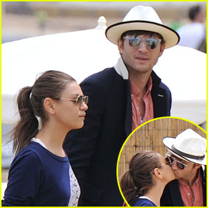 Ashton Kutcher & Mila Kunis: Kisses in Saint Tropez!