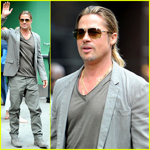 Brad Pitt Talks Angelina Jolie on 'Good Morning America'