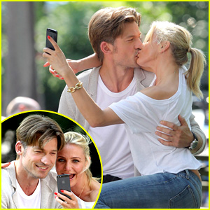 Cameron Diaz & Nikolaj Coster-Waldau Lock Lips On Set