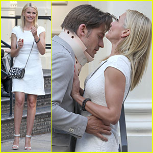 Cameron Diaz & Nikolaj Coster-Waldau: Neck Brace on 'Other Woman' Set!
