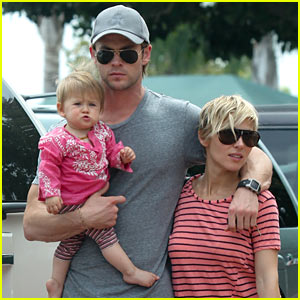 Chris Hemsworth Hugs His Family Close in Malibu
