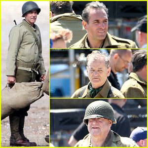 George Clooney: 'Monuments Men' Water Trekking Scenes!