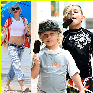 Gwen Stefani: Beach Day with the Boys!