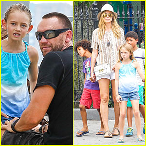 Heidi Klum & Martin Kirsten: Bar Pitti Lunch with the Kids!