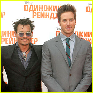 Johnny Depp & Armie Hammer: 'Lone Ranger' Moscow Premiere!