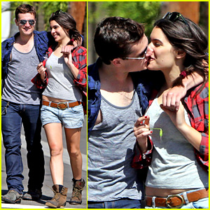 Josh Hutcherson & Claudia Traisac Kiss After Motorcycle Ride!