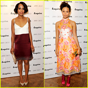 Kerry Washington & Thandie Newton: Jimmy Choo LC:M Event!