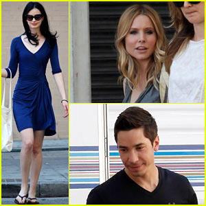Kristen Bell & Krysten Ritter: 'Veronica Mars' Set with Justin Long!
