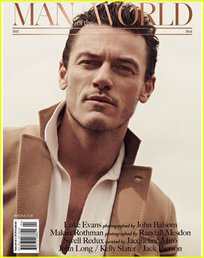 Luke Evans Covers 'Man of the World' Issue 4 (Exclusive)!