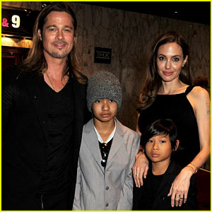 Maddox & Pax Jolie-Pitt Join Angelina Jolie & Brad Pitt at 'World War Z' Premiere