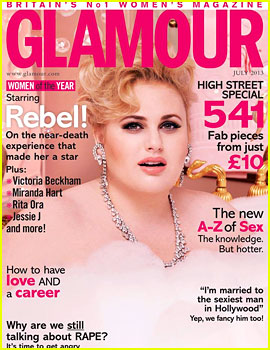 Rebel Wilson Covers 'Glamour UK' July 2013