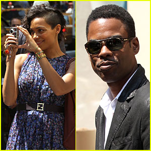 Rosario Dawson & Chris Rock: 'Finally Famous' Set!