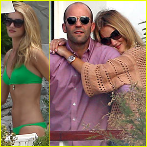 Rosie Huntington-Whiteley: Bikini Vacation with Jason Statham!