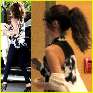 Selena Gomez Grabs Starbucks Before Visiting a Friend