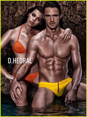 Thom Evans: Shirtless D. Hedral Beachwear Campaign!