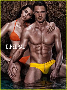 Thom Evans: Shirtless D. Hedral Beachwear Campaign!