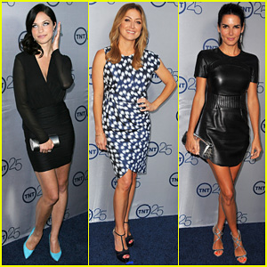 Alexis Knapp & Sasha Alexander: TNT's 25th Anniversary Party