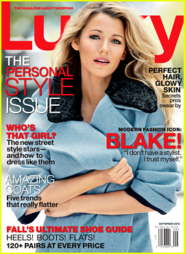 Blake Lively Covers 'Lucky' Magazine September 2013 ...