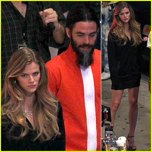 Brooklyn Decker & Chris Pine Film 'Stretch' at Night