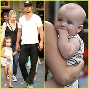 Cam Gigandet Debuts Baby Rekker During Family Disney Trip!