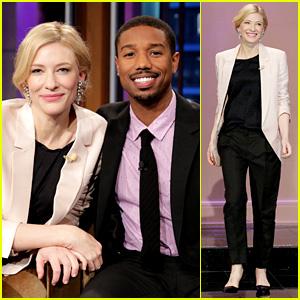Cate Blanchett & Michael B. Jordan: 'Leno' Appearance!