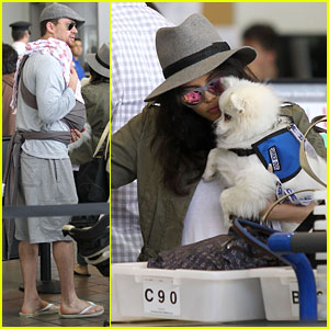 Channing Tatum & Jenna Dewan-Tatum: LAX with Baby Everly!