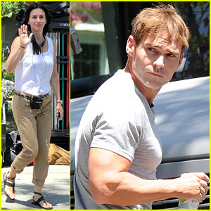Courteney Cox & Seann William Scott Prep for Day of Filming!
