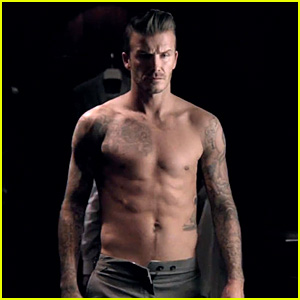 David Beckham: Shirtless in New Fragrance Commercial!