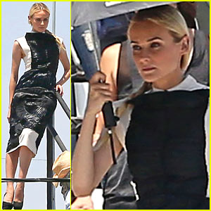 Diane Kruger Poses for Rooftop Photo Shoot!