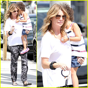 Ellen Pompeo Showcases Arm Strength with Stella!