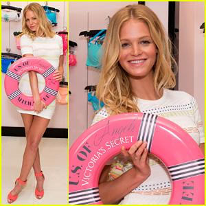 Erin Heatherton: Victoria's Secret U.S. of Angels Swim Tour!