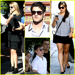 'Glee' Cast Grabs Lunch Together After Cory Monteith Memorial