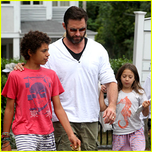 Hugh Jackman Hangs with Family, 'Wolverine' Hits Theaters!