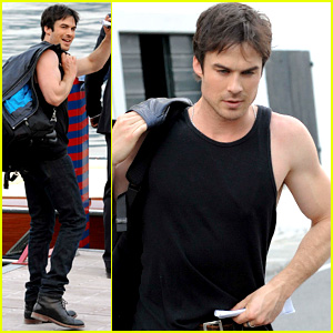 Ian Somerhalder Wears Muscle Tank in Lake Como