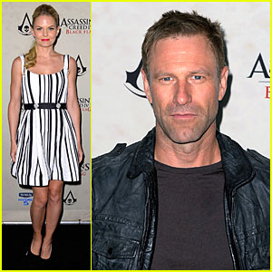 Jennifer Morrison & Aaron Eckhart: Assassin's Creed IV Black Flag Party!