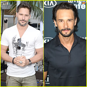 Joe Manganiello & Rodrigo Santoro: Comic-Con Wired Cafe Studs!
