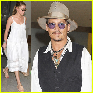 Johnny Depp: Japan Arrivial with Amber Heard!
