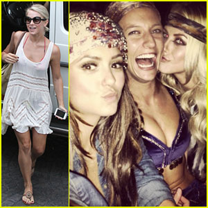 Julianne Hough & Nina Dobrev: Party Bus for Selena Gomez's Birthday!