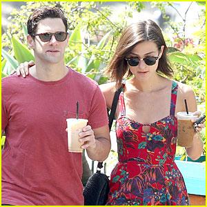 Justin Bartha & Lia Smith: Iced Coffee Sharing Couple!