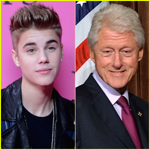 Justin Bieber & Bill Clinton Talk Following Mop Bucket Urinating Incident