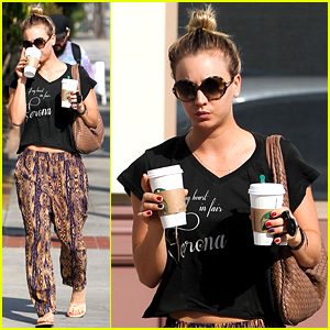 Kaley Cuoco Grabs Coffee for Two After Date with Henry Cavill